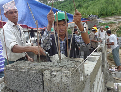 September 2015 update: Because all The Fuller Center homes in Nepal were undamaged by the massive earthquake that destroyed so many other homes, local Fuller Center leaders are training others in the successful methods of building earthquake-resistant homes so that many other groups can replicate The Fuller Center's success. A total of 35 masons participated in the first training event.