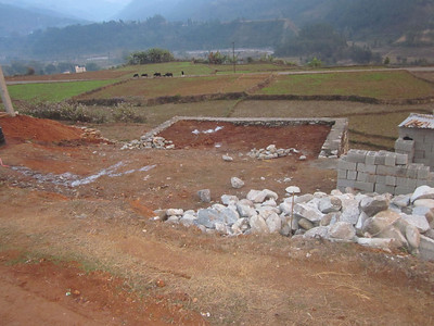 Site for third house construction
