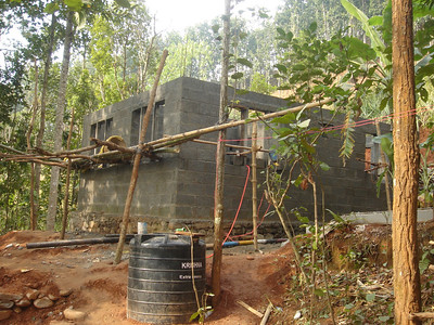 First house under construction