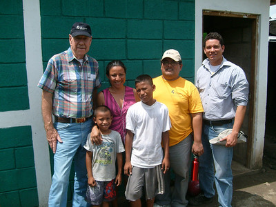 Doug Miller with a partner family.