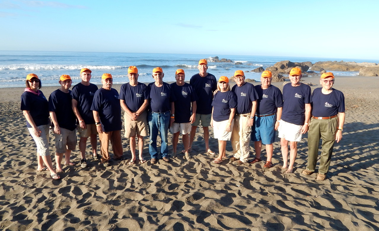 Team photo on the Las Penitas beach with Tamara Danel, Barry Chance, Bob Abel, Jim Creel, Norman Race, Edgar Stoesz, Bob Ripley, John Schaub, Sheilla Snell, David Snell, Allon LeFever, Don Erler and LeRoy Troyer.