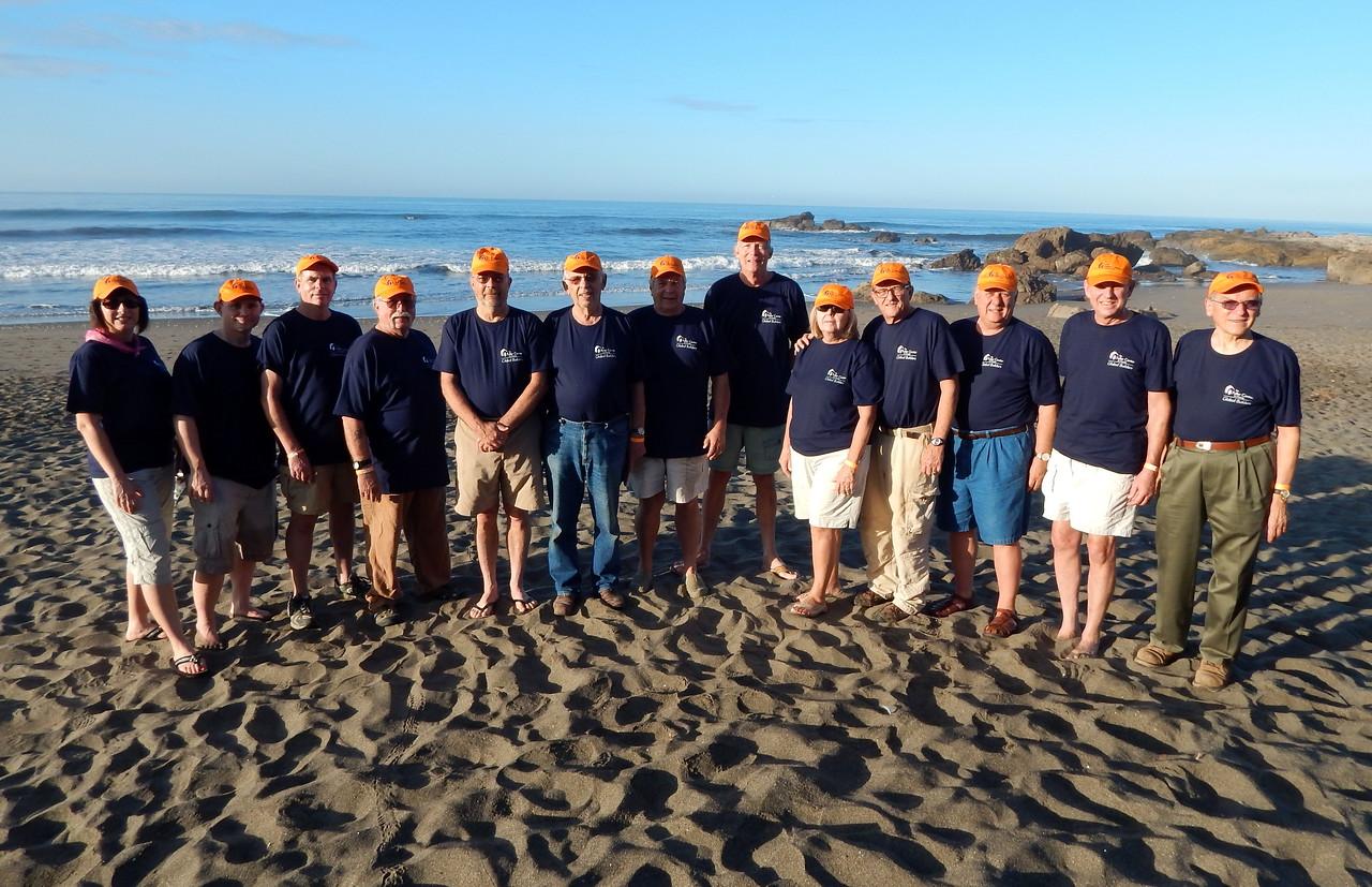 Team photo on the Las Penitas beach with Tamara Danel, Barry Chance, Bob Abel, Jim Creel, Norman Race, Edgar Stoesz, Bob Ripley, John Schaub, Sheilla Snell, David Snell, Allon LeFever, Don Erler and LeRoy Troyer.