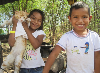 Cyndi and Manuel, children of our very first homeowner partners in Nicaragua.