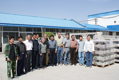 2011 05-02 Representatives of MillenniumBlok from the US and their Chinese counterparts who run the factory in Beijing.