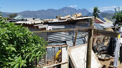 Typical poverty housing in Cape Town