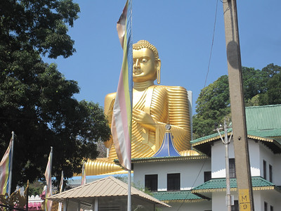 Buddhist temple. About 80 percent of people in Sri Lanka are Buddhists.