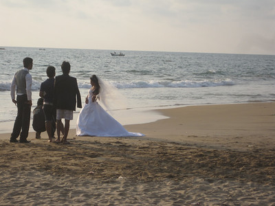 The beach near the hotel where Global Builders will stay is a popular spot for weddings and wedding pictures.
