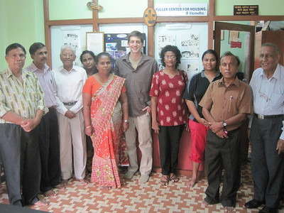 Ryan Iafigliola wIth the Fuller Center of Sri Lanka leadership team.
