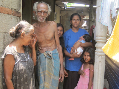 Sri Lankan family in need of decent housing.
