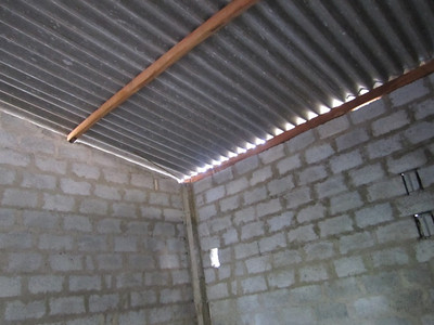 2011 02-14   Inside of the room - roof and walls. Finishing work to be done by the family. Ranjan
