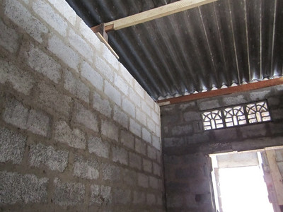 2011 02-14  Inside the house - roof, walls and back door.  Ranjan
