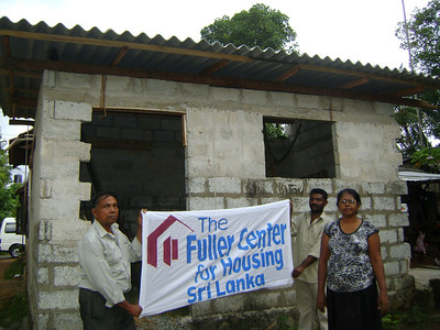 10 October - The Swarnakanthi family had started building a house but had no money to complete it. The Fuller Center built walls and a roof. Now, the family will put in doors and windows and do plastering as they are able. ranjan