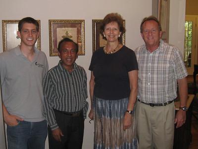 10 08-26 Ranjan, National Director of Fuller Center Sri Lanka visits in Americus with Linda Fuller, David Snell and Ryan Iafigliola (left). lf
