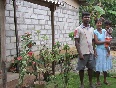 10 09-27 Family in Piliyandala are chosen to become Fuller Center homeowners.  ranjan