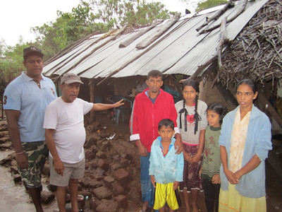2011 02-03  Nihal Kumara, married with 4 children, is a laborer, no work for him at present. The walls have come down totally on one side of their house. Roof, also, totally damaged.  rj