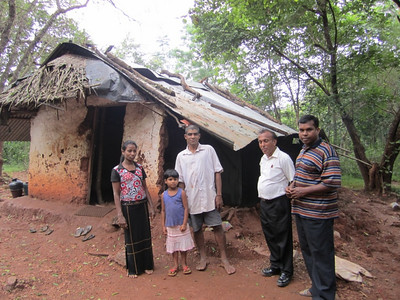 2011 02-09  Ranjith Weerasinghe and his wife live in Dambulla community with their 2 children. One side of their little hut has come down and their lives are in danger. Weerasinghe works as a laborer but presently has no work.   rj