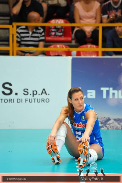 Valentina Tirozzi  durante la fase di preparazione al match Italia Brasile - Alassio Cup Italia-Brasile, Alassio Cup