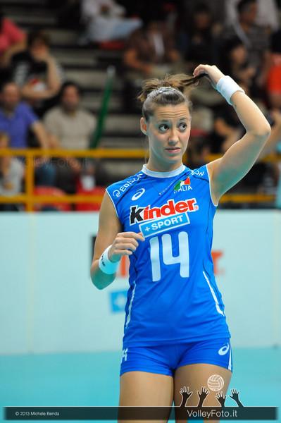 Valeria Caracuta durante la fase di preparazione al match Italia Brasile - Alassio Cup Italia-Brasile, Alassio Cup