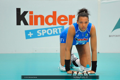 Valentina Diouf (Italia) durante la fase di preparazione, Italia Brasile - Alassio Cup Italia-Brasile, Alassio Cup