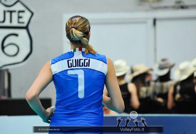 Martina Guiggi durante la fase di preparazione al match Italia Brasile - Alassio Cup Italia-Brasile, Alassio Cup