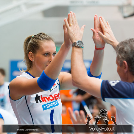 Indre Sorokaite (Italy) during  presentation at Alassio Cup 2013, Italy Italia - Giappone, Italy - Japan | Alassio Cup
