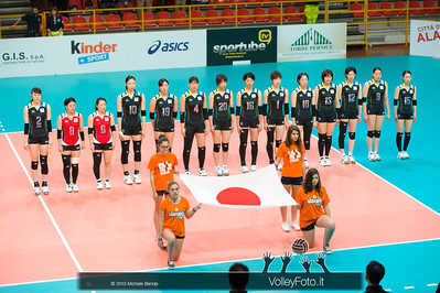 Japan National Volleyball Team during presentation at Alassio Cup 2013, Italy