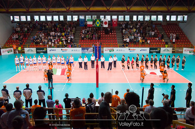 Italy and Japan National Volleybal Teams during presentation at Alassio Cup 2013, Italy Italia - Giappone, Italy - Japan | Alassio Cup