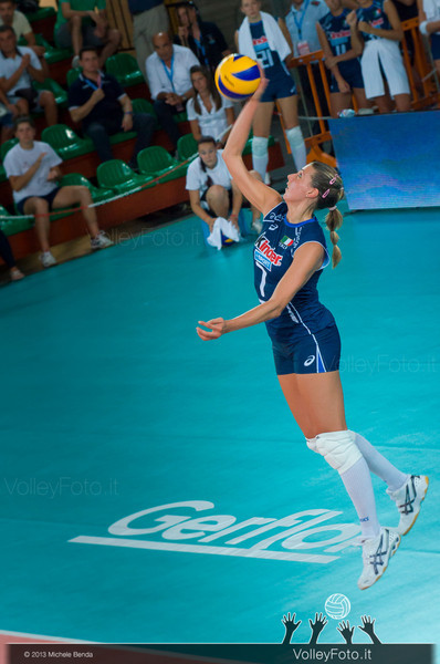 Martina Guiggi [ITA] serves the ball