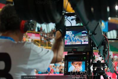 Italia inquadrata dalla telecamera di RaiSport