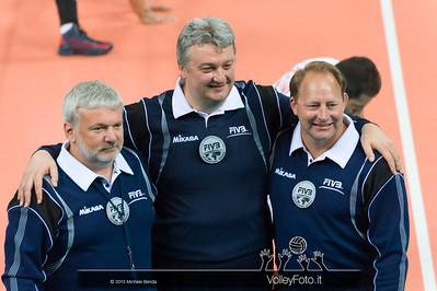 FIVB International Referee Stahl (Usa) - Santi (Ita) - Hodon (Svk) - Italia-Iran, World League 2013 - Modena