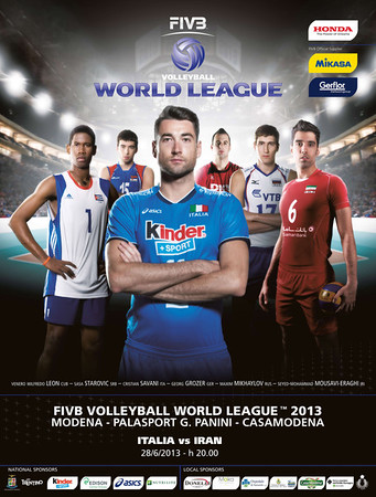 Locandina FIVB Men's Volleyball World League
