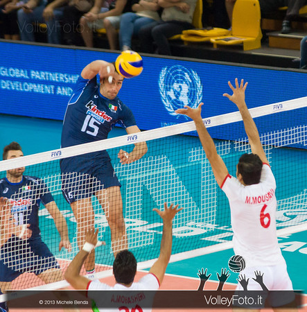 attacco Emanuele Birarelli [ITA] - Italia-Iran, World League 2013 - Modena