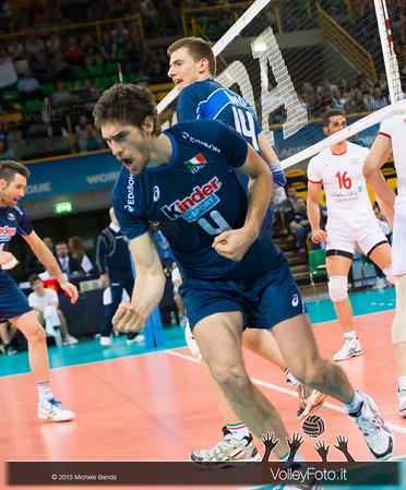 Luca Vettori [ITA] esulta - Italia-Iran, World League 2013 - Modena