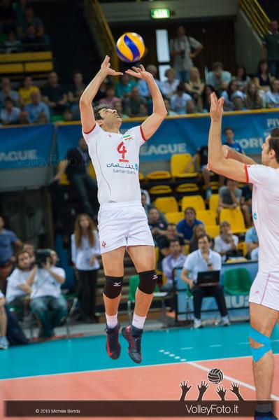 Amir Ghafour [IRI] set - Italia-Iran, World League 2013 - Modena