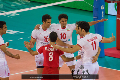 Iran esulta - Italia-Iran, World League 2013 - Modena