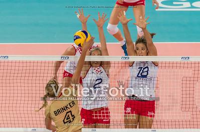 Maren BRINKER, attacks, Ana GRBAC, Maja POLJAK, block