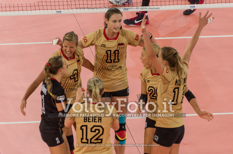 Germania, celebrates after scoring a point