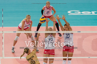 Maren BRINKER, attacks, Samanta FABRIS, Maja POLJAK, block