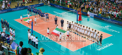 Italy - Iran, National anthems