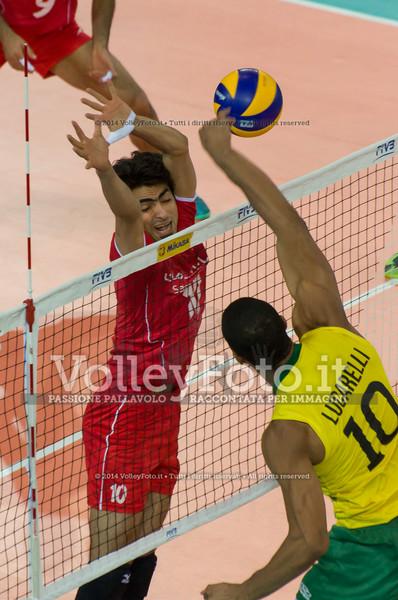Ricardo Lucarelli Santos De Souza, attack, Amir Ghafour امیر غفور, block