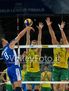 Denis Biriukov (Денис Бирюков), attack, Bruno Mossa Rezende, Sidnei Dos Santos Junior (Sidão), block