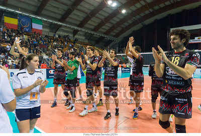 Perugia, celebrate after winning the match