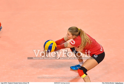 GERMANY training session 2016 European Olympic Qualification - Women | Başkent Voleybol Salonu Ankara, Türkiye, 03.01.2016 FOTO: Michele Benda © 2016 Volleyfoto.it, all rights reserved [id:20160103.MBQ_1177]