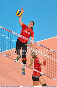 GERMANY training session 2016 European Olympic Qualification - Women | Başkent Voleybol Salonu Ankara, Türkiye, 03.01.2016 FOTO: Michele Benda © 2016 Volleyfoto.it, all rights reserved [id:20160103.MBQ_1116]