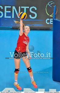 GERMANY training session 2016 European Olympic Qualification - Women | Başkent Voleybol Salonu Ankara, Türkiye, 03.01.2016 FOTO: Michele Benda © 2016 Volleyfoto.it, all rights reserved [id:20160103.MBQ_1141]