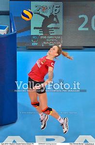 GERMANY training session 2016 European Olympic Qualification - Women | Başkent Voleybol Salonu Ankara, Türkiye, 03.01.2016 FOTO: Michele Benda © 2016 Volleyfoto.it, all rights reserved [id:20160103.MBQ_1143]