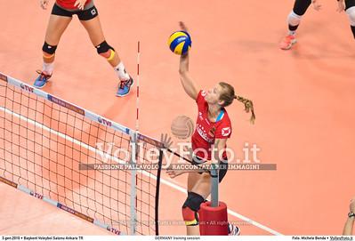 GERMANY training session 2016 European Olympic Qualification - Women | Başkent Voleybol Salonu Ankara, Türkiye, 03.01.2016 FOTO: Michele Benda © 2016 Volleyfoto.it, all rights reserved [id:20160103.MBQ_1125]