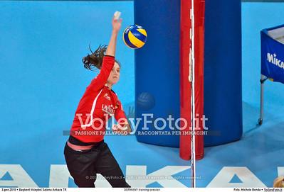 GERMANY training session 2016 European Olympic Qualification - Women | Başkent Voleybol Salonu Ankara, Türkiye, 03.01.2016 FOTO: Michele Benda © 2016 Volleyfoto.it, all rights reserved [id:20160103.MBQ_1154]