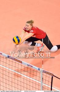 GERMANY training session 2016 European Olympic Qualification - Women | Başkent Voleybol Salonu Ankara, Türkiye, 03.01.2016 FOTO: Michele Benda © 2016 Volleyfoto.it, all rights reserved [id:20160103.MBQ_1136]