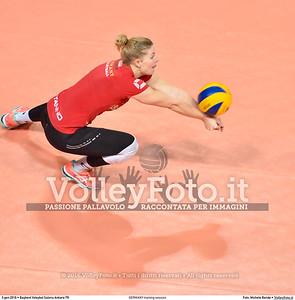 GERMANY training session 2016 European Olympic Qualification - Women | Başkent Voleybol Salonu Ankara, Türkiye, 03.01.2016 FOTO: Michele Benda © 2016 Volleyfoto.it, all rights reserved [id:20160103.MBQ_1184]